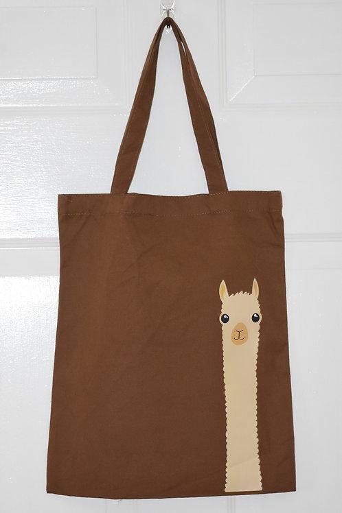 Brown Alpaca Tote Bag