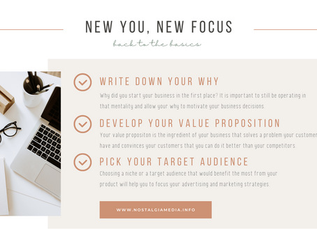 New You, New Focus: Back to the Basics