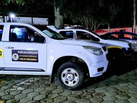 Prefeitura de Volta Redonda intensifica ações de fiscalização no fim de semana
