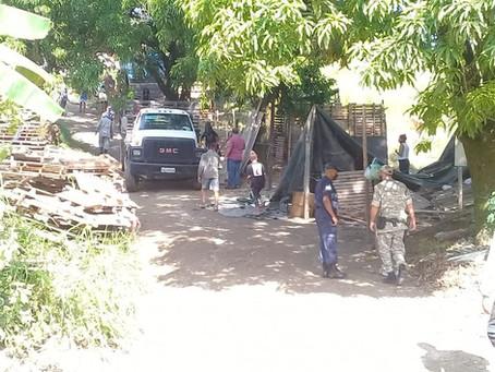 Prefeitura e forças de segurança realizam desocupação de área pública em Volta Redonda