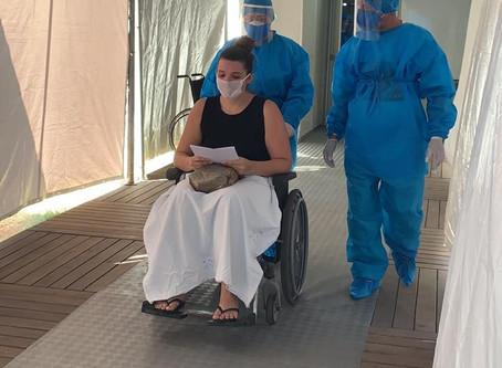 Hospital de Campanha tem primeira alta de paciente com coronavírus