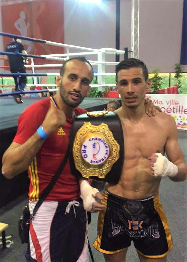 Mohamed  Galaoui (TEK Boxing) et Julien Côme