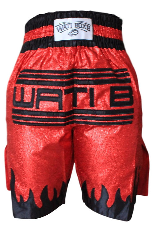 "Short  ""WATI BOXE"" rouge"