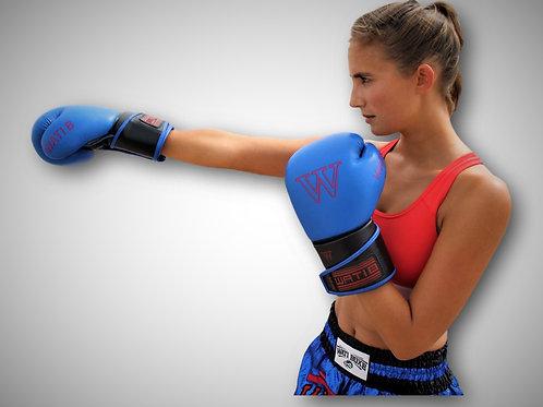 """Kit """"WATIBOXE"""" short et gants bleu"""