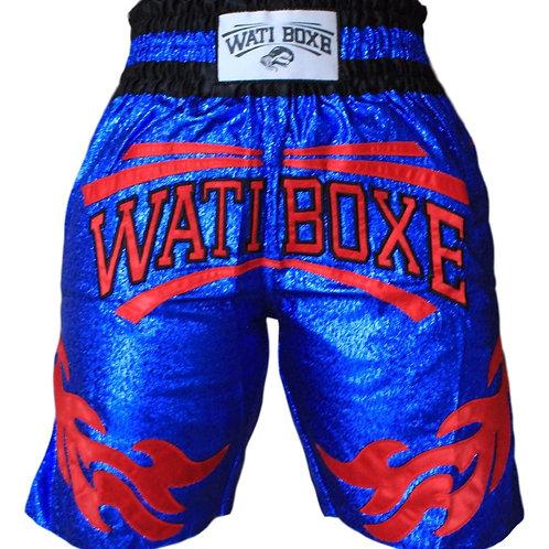 "Short ""WATI BOXE"" bleu"