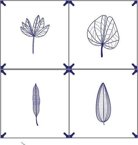 Azulejo Delft Brasil Folhas