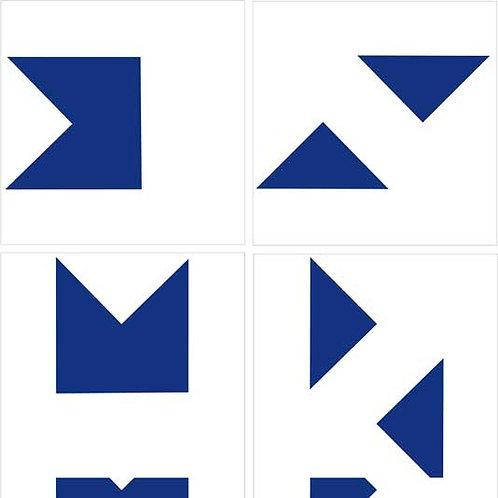 Azulejo Bandeirinha de uma cor