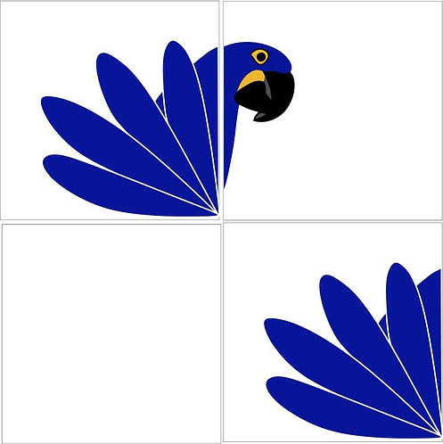 Azulejo Arara Azul