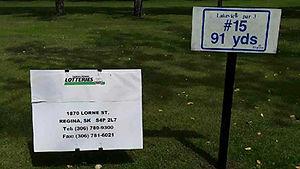 Golf Tournament Sponsors Sign - Hole 15