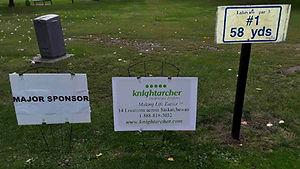 Golf Tournament Sponsors Sign - Hole 1