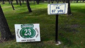 Golf Tournament Sponsors Sign - Hole 4
