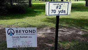 Golf Tournament Sponsors Sign - Hole 2