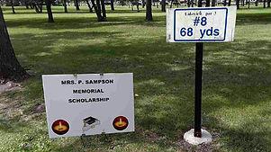 Golf Tournament Sponsors Sign - Hole 8