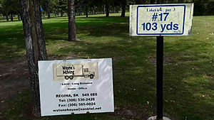 Golf Tournament Sponsors Sign - Hole 17