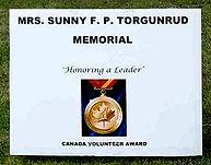 Mrs. Sunny Torgunrud Memorial Sign