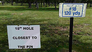 Golf Tournament Sponsors Sign - Hole 18