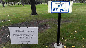Golf Tournament Sponsors Sign - Hole 7