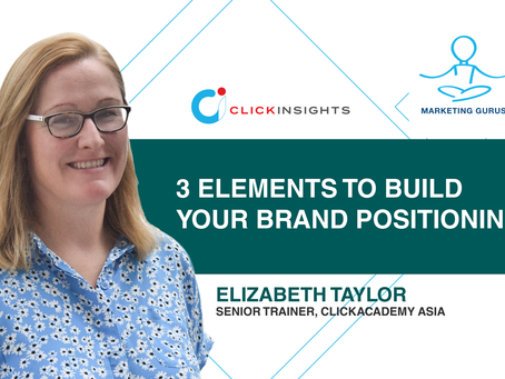 [Marketing Guru Video Series] 3 elements to build your brand positioning