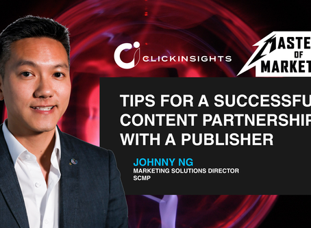 [Masters of Marketing] Tips for a Successful Content Partnership with a Publisher