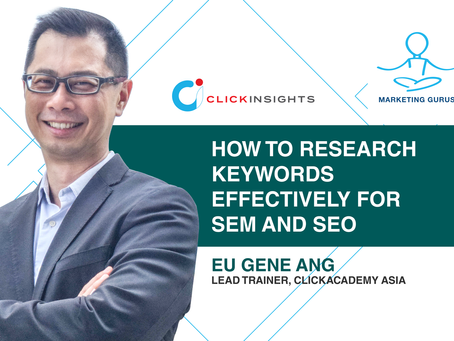 [Marketing Guru] How to research keywords effectively for SEM and SEO