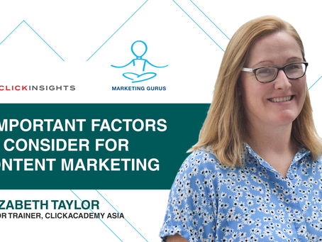 [Marketing Guru Video Series] 3 Important Factors To Consider For Content Marketing