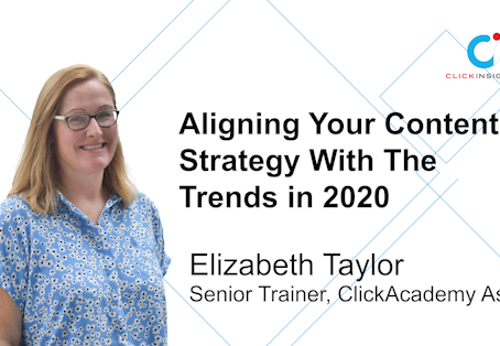 [Marketing Guru Video Series] Aligning your content strategy with trends in 2020