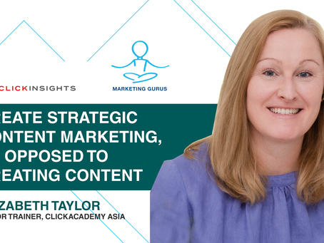[Marketing Guru Video Series] Create Strategic Content Marketing, as opposed to creating content