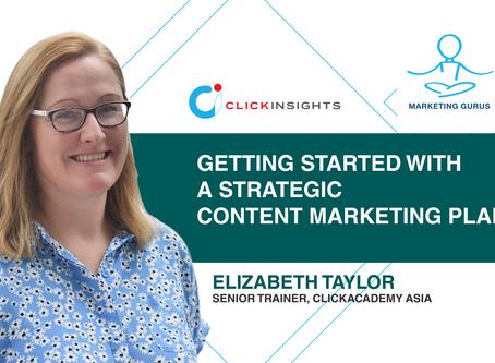 [Marketing Guru Video Series] Getting Started with a Strategic Content Marketing Plan