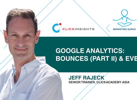 [Marketing Guru Video Series] Google Analytics: Bounces (Part II) and Events