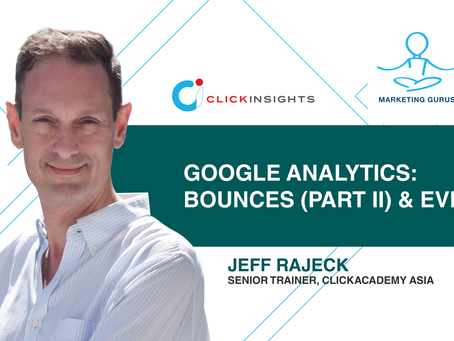 [Marketing Guru Video Series] Google Analytics: Bounces (Part II) and Events