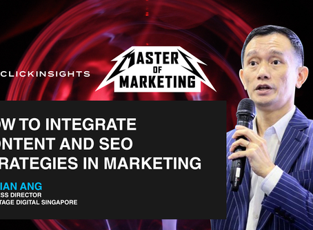 [Masters of Marketing] How to Integrate Content and SEO strategies in Marketing