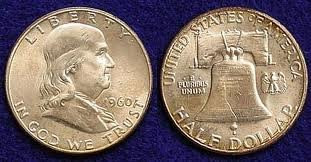 Franklin Half Dollars and other coins at Texas Coin