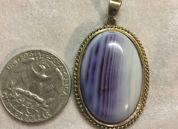 Dyed purple Agate