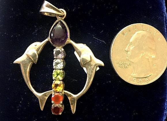 Chakra Dolphin Pendant