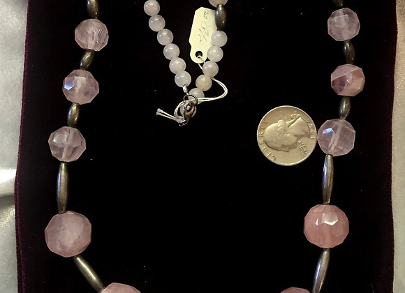 Rose Quartz w/Sterling Sliver beads