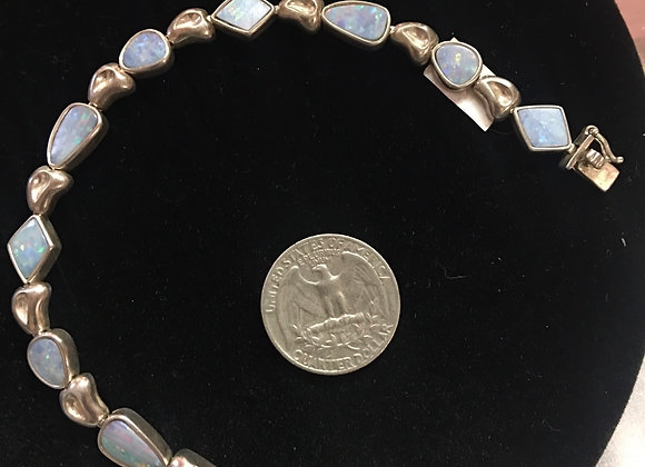 Sterling Silver & Opal Bracelet