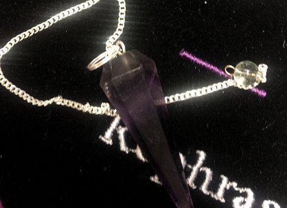 Amethyst Pendulum Long