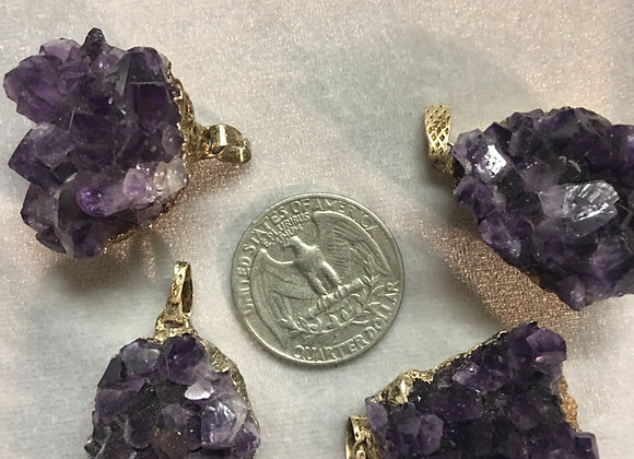 Electroplated Amethyst Cluster