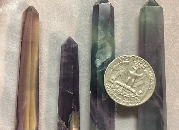 Rainbow fluorite mini towers