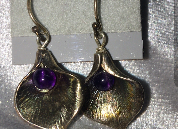 Amethyst Petal Earrings