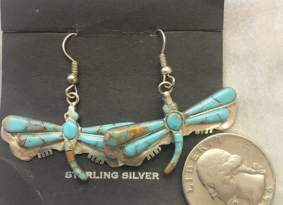 Dragonfly Turquoise in sterling silver