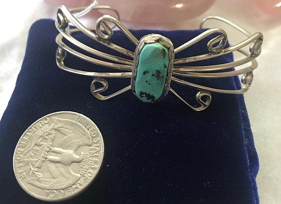 Handmade Turquoise /Silver Bracelet