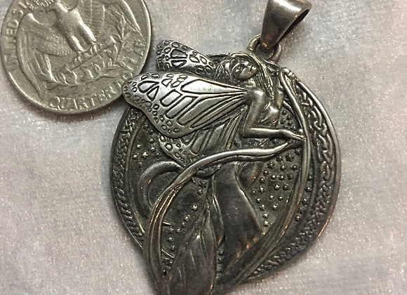 Fairy Pendant Sterling Silver