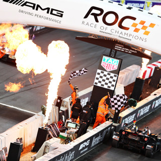 ROC London Olympic Stadium 2015_Top Shot_Nations Cup_Sebastian Vettel (GER) crosses the Finish line in the KTM X-Bow