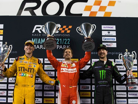 Sebastian Vettel wins ROC Nations Cup for Team in Germany in Miami.