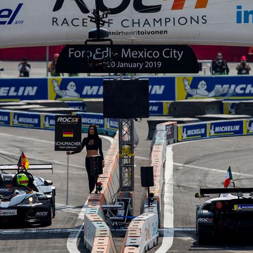 ROC Mexico 2019_Mick Schumacher Vs Benito Guerra on the start line in KTM X-Bow