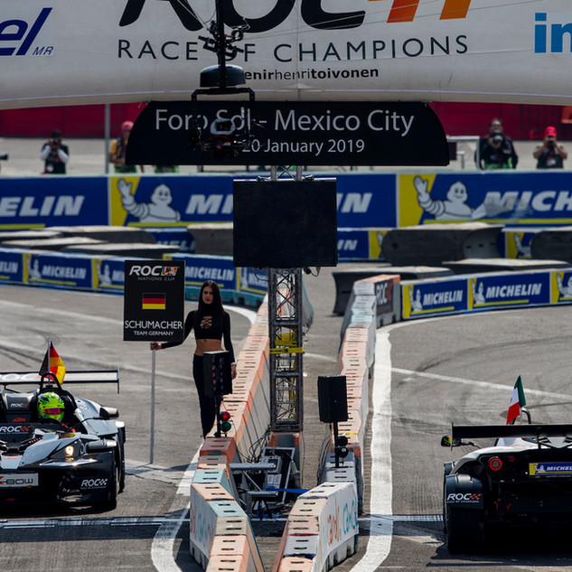 ROC Mexico 2019_Mick Schumacher Vs Benito Guerra on the start line in KTM X-Bow
