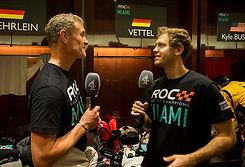 David Coulthard (GBR) and Sebastian Vett