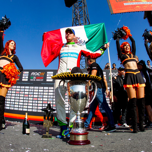 ROC Mexico 2019_Benito Guerra winner of Race Of Champions on thePodium