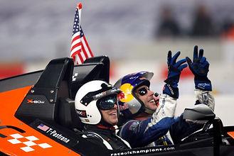 1. Travis Pastrana celebrates in KTM X-b